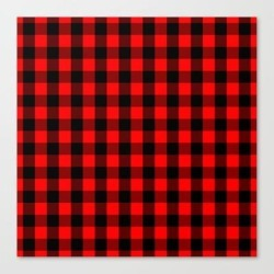 Canvas Print | Classic Red And Black Buffalo Check Plaid Tartan by Podartist - LARGE - Society6 found on Bargain Bro Philippines from Society6 for $116.89