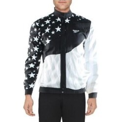 Reebok Mens Hush Track Jacket Fitness Running - Black (XS), Men's(nylon, printed) found on Bargain Bro Philippines from Overstock for $36.49