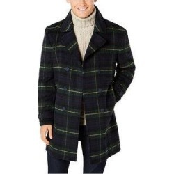 Tommy Hilfiger Mens Plaid Overcoat Dress, Green, 38 Regular - 38 Regular (Green - 38 Regular), Men's(polyester) found on Bargain Bro Philippines from Overstock for $219.67