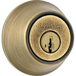 Kwikset 665 Double Cylinder Deadbolt w/ SmartKeyZinc in Yellow, Size 3.9 H x 3.5 W x 2.7 D in | Wayfair 6655SMT found on Bargain Bro Philippines from Wayfair for $26.99