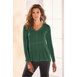 Women Rosalind T-Shirt by Soft Surroundings, in Pine Grove size 1X (18-20)