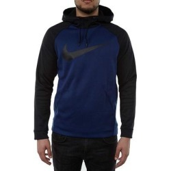 Nike Men's Hoodie Black Navy Blue Size XL Colorblocked Drawstring (XL)(polyester) found on MODAPINS from Overstock for USD $33.98