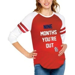 St. Louis Cardinals Soft as a Grape Women's Maternity Baseball Long Sleeve T-Shirt - Red found on Bargain Bro India from Fanatics for $49.99