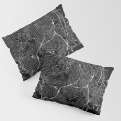 King Size Pillow Sham | San Francisco Black Map by Multiplicity - STANDARD SET OF 2 - Cotton - Society6 found on Bargain Bro from Society6 for USD $30.39