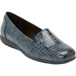 Wide Width Women's The Leisa Flat by Comfortview in Navy (Size 10 W) found on Bargain Bro Philippines from Woman Within for $54.99