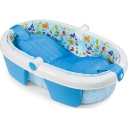 Summer Infant Fold-Away Baby Bath, Blue found on Bargain Bro from Kohl's for USD $18.99