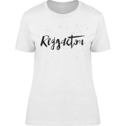 I Love Reggaeton Music Tee Women's -Image by Shutterstock Women's T-shirt (S), White(cotton, Graphic) found on Bargain Bro India from Overstock for $13.99