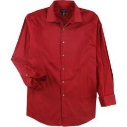 Alfani Mens Stretch Button Up Dress Shirt (Red - 16