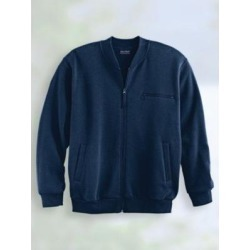 Men's John Blair® Four-Season Fleece Baseball Jacket, Classic Navy Blue 3XL found on Bargain Bro Philippines from Blair.com for $35.99