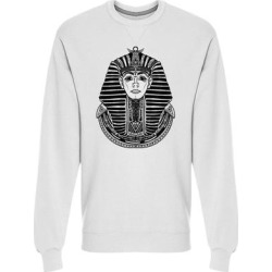 Pharaoh Headdress Graphic Sweatshirt Men's -Image by Shutterstock (S), White(cotton) found on Bargain Bro Philippines from Overstock for $24.99
