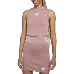 Sportswear Air Rib Crop Tank - Pink - Nike Tops found on Bargain Bro from lyst.com for USD $38.00