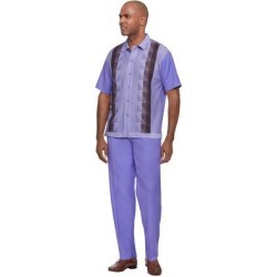 Stacy Adams Men's Knit Front Shirt Walking Set (Size XXXXL) Lavender, Polyester,Rayon found on Bargain Bro Philippines from ShoeMall.com for $119.95