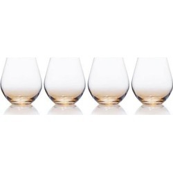 Mikasa Gianna 4-pc. Ombre Amber Stemless Wine Glass Set, Multicolor found on Bargain Bro Philippines from Kohl's for $63.99