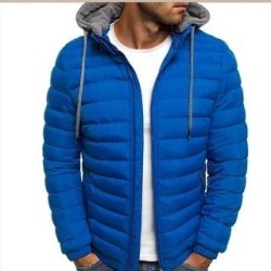 Men's Packable Insulated Light Weight Hooded Puffer Down Jacket (Blue - M)(polyester) found on Bargain Bro Philippines from Overstock for $55.30