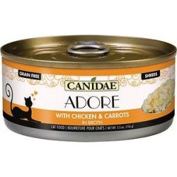 CANIDAE Adore Grain-Free Chicken & Carrots in Broth Canned Cat Food, 5.5-oz, case of 24