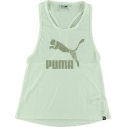 Puma Womens Classic Logo Tank Top Fitness Activewear - Puma White/Silver - S (Puma White - M), Women's(polyester) found on Bargain Bro from Overstock for USD $11.43