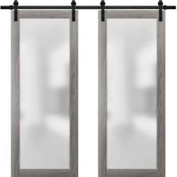Sliding Double Barn Glass Doors/ Planum 2102 Ginger Ash found on Bargain Bro India from Overstock for $1372.99