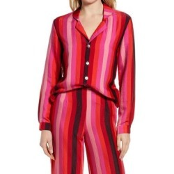 Freya Pink Stripe Button-up Blouse - Pink - Never Fully Dressed Tops found on MODAPINS from lyst.com for USD $89.00