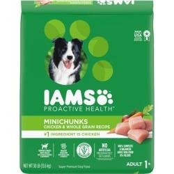 Iams Proactive Health Minichunks with Chicken & Whole Grain Recipe Adult Dry Dog Food, 30 lbs.