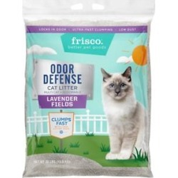 Frisco Odor Defense Lavender Fields Scented Clumping Clay Cat Litter, 35-lb bag found on Bargain Bro from Chewy.com for USD $11.32