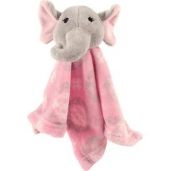 Hudson Baby Girls' Lovey Blankets Girl - Elephant Security Blanket