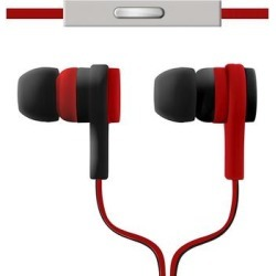 ArgomTech Wired Headphones Black/Red - Red & Black Effects Earbuds found on Bargain Bro from zulily.com for USD $6.83