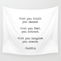Wall Hanging Tapestry | Buddha Quote