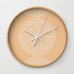 Wall Clock | Fruit Bowl by Urban Wild Studio Supply - Natural - White - Society6 found on Bargain Bro from Society6 for USD $19.45