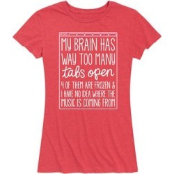 Instant Message Women's Women's Tee Shirts HEATHER - Heather Red 'My Brain Has Too Many Tabs' Relaxed-Fit Tee - Women & Plus found on Bargain Bro from zulily.com for USD $11.39