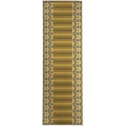 Foundry Select Macedonia Geometric Gold/Yellow Area RugPolyester in White, Size 96.0 H x 36.0 W x 0.08 D in | Wayfair found on Bargain Bro Philippines from Wayfair for $169.99