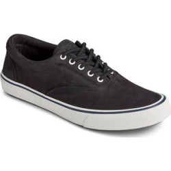 Sperry Top-Sider Men's Sneakers BLACK - Black Striper II CVO Leather Sneaker - Men found on Bargain Bro from zulily.com for USD $27.67
