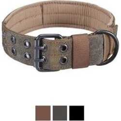 OneTigris Nylon Military Dog Collar, Coyote Brown, Large: 17.7 to 20.9-in neck, 1.5-in wide found on Bargain Bro Philippines from Chewy.com for $15.99