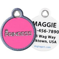 Dog Tag Art Princess Personalized Dog & Cat ID Tag, Large