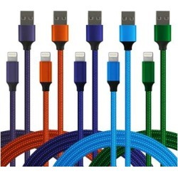 Lisensy Tech Lightning Cables Mixed - Orange & Blue Lightning Cable Set found on Bargain Bro from zulily.com for USD $11.39
