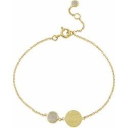 Bali 9ct Gold June Birthstone Bracelet Moonstone - Metallic - Auree Jewellery Bracelets found on Bargain Bro from lyst.com for USD $309.32