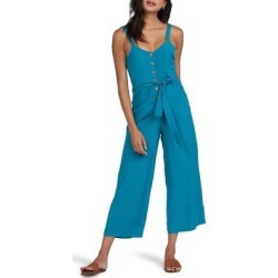 Mind Trip Crop Jumpsuit - Blue - Roxy Jumpsuits found on Bargain Bro Philippines from lyst.com for $65.00
