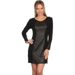 High Secret Women's Textured Bodycon Dress (S), Black(acrylic) found on Bargain Bro from Overstock for USD $34.19