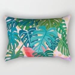 Rectangular Pillow | Monstera Houseplant Painting by Sewzinski - Small (17