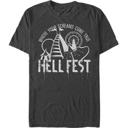 Fifth Sun Men's Tee Shirts BLACK - Hell Fest Carnival Rides 'Where Your Screams Come True' Black Tee - Men found on Bargain Bro Philippines from zulily.com for $15.99