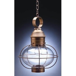 Northeast Lantern Onion 17 Inch Tall 2 Light Outdoor Hanging Lantern - 2542-AB-LT2-CSG found on Bargain Bro from Capitol Lighting for USD $518.76