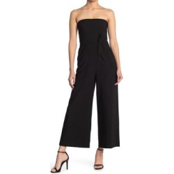 Isla Strapless Crop Jumpsuit - Black - Likely Jumpsuits found on Bargain Bro Philippines from lyst.com for $90.00
