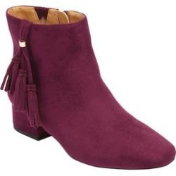 Extra Wide Width Women's The Tegan Bootie by Comfortview in Dark Berry (Size 7 WW) found on Bargain Bro Philippines from Woman Within for $29.98