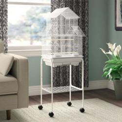 YML Pagoda White Top Bird Cage, 18