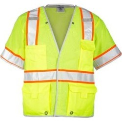 Premium Brilliant Series Breakaway Class 3 Vest (Lime - 5XL), Men's, Green(polyester) found on Bargain Bro from Overstock for USD $41.99
