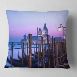 Designart 'Venice Sunset Panorama at Twilight' Seascape Throw Pillow found on Bargain Bro from Overstock for USD $25.98