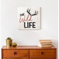 Millwood Pines Canvas Art Canvas & Fabric in Black/Red/White, Size 12.0 H x 12.0 W x 1.25 D in   Wayfair DCF87A0FBEAB4F96993B596D9EBDD8AE found on Bargain Bro Philippines from Wayfair for $38.99