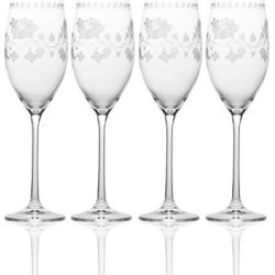 Mikasa Vintage Floral 7.8 oz. Flute (Set of 4) found on Bargain Bro India from Overstock for $46.99