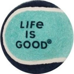 LIFE IS GOOD Tennis Balls Dog Toy found on Bargain Bro India from Chewy.com for $5.69