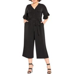 Utility Jumpsuit - Black - City Chic Jumpsuits found on Bargain Bro Philippines from lyst.com for $99.00