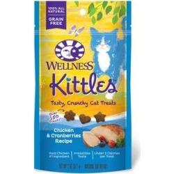 Wellness Kittles Grain-Free Chicken & Cranberries Recipe Crunchy Cat Treats, 2-oz bag